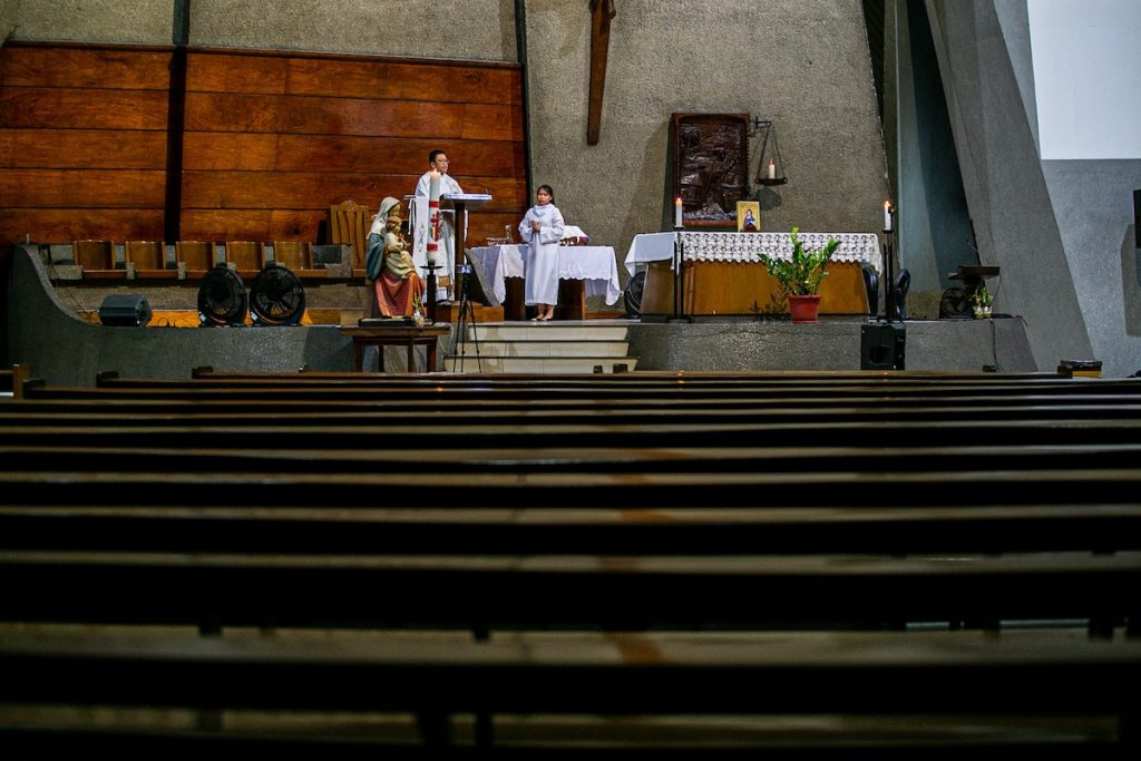 Mass in empty church