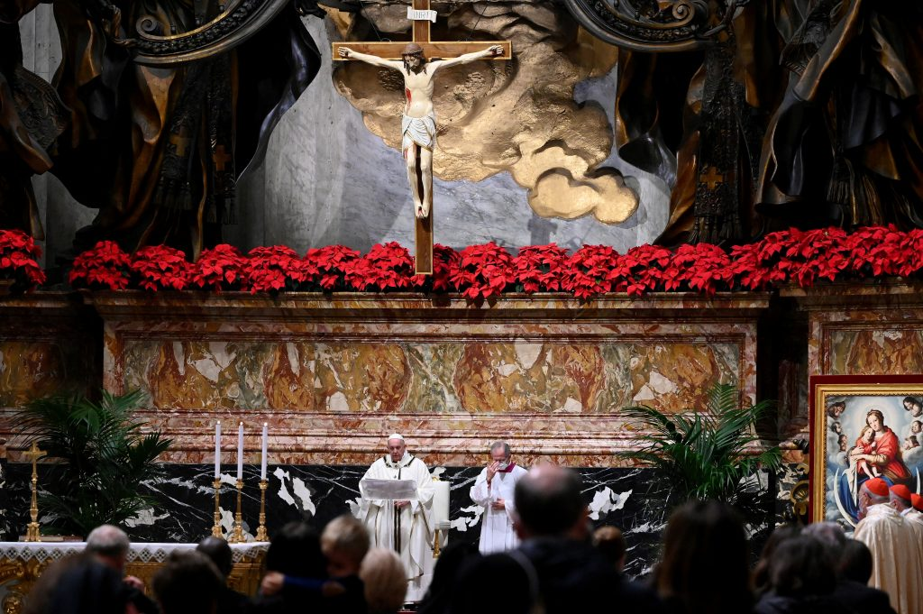 Pope Francis celebrates Christmas Eve at the Vatican