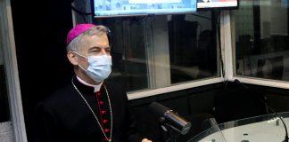 Archbishop Charles John Brown, Apostolic Nuncio to the Philippines, visits Veritas 846 in Quezon City on Jan. 11, 2021. (Photo courtesy of Veritas 846)