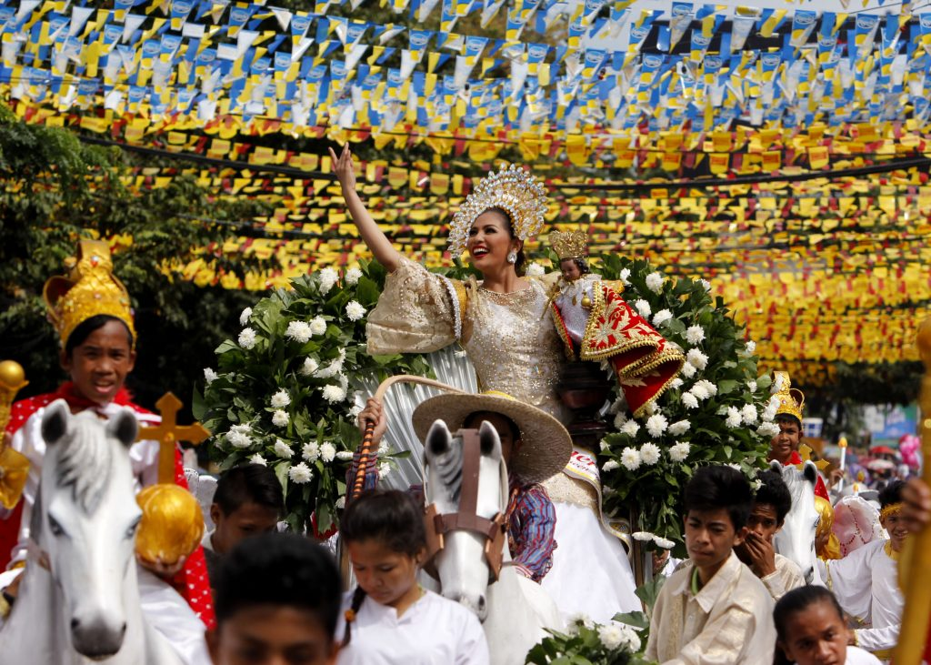 A dancer performs during the grand parade in honor of the Child Jesus during the 2016 observance of the Feast of the Child Jesus in Cebu. (File photo by Joe Torres)