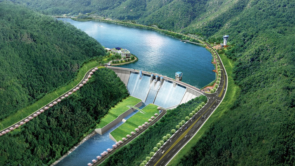 An artist's rendition of the Jalaur River Multipurpose Dam (Photo courtesy of Dasan Consultants)