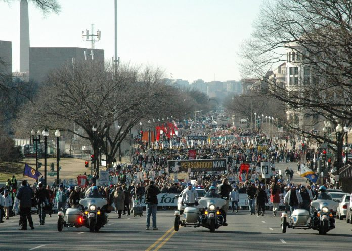 Americans join the annual March for Life in Washington, D.C. in this photo taken Jan. 22, 2009. (Wiki Commons photo)