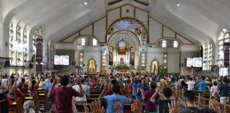 Devotees attend Mass inside the Quiapo Church in Manila on Jan. 5, 2021. (Photo courtesy of Quiapo Church via CBCP News)