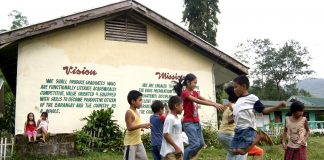 Children at play in a school in the southern Philippines. (File photo by Angie de Silva)
