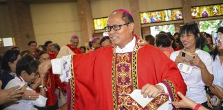 Bishop Jose Elmer Mangalinao of Bayombong. (Photo Courtesy of Glenn Munoz Lopez via Veritas 846)